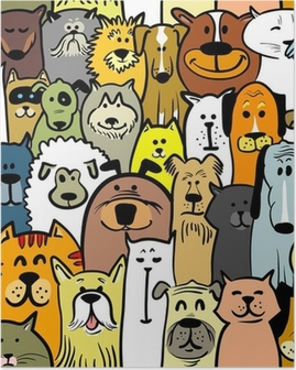 Poster Les chiens et les chats