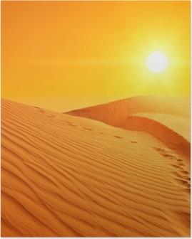 Poster Les dunes de sable au Sahara