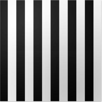 Poster Les lignes diagonales de motif noir et blanc