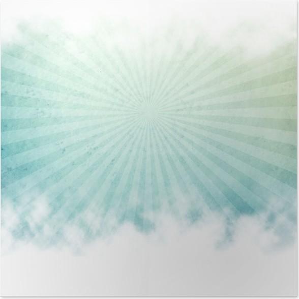 Poster Les rayons de fond - Art et création