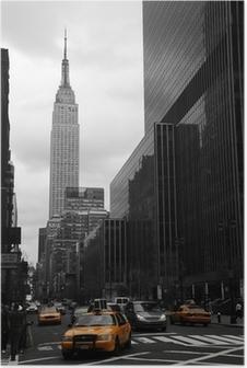 Poster Les taxis jaunes sur 35th Street, Manhattan, New York