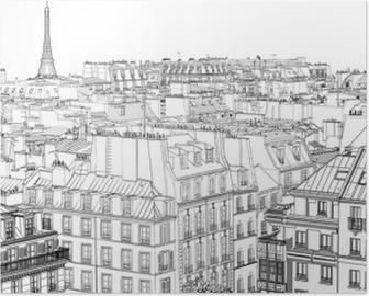 Poster Les toits de Paris