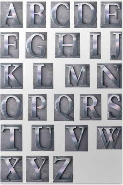 Póster Letra de imprenta mayúscula alfabeto • Pixers® - Vivimos para ...