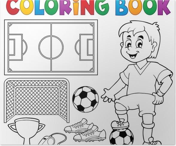 Póster Libro para colorear de fútbol el tema 1 • Pixers® - Vivimos ...