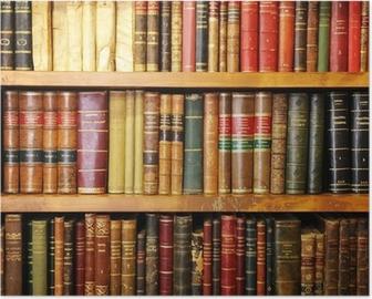 Libros antiguos, librería, biblioteca Poster