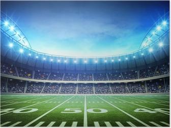 Poster Licht van de Amerikaanse stadion