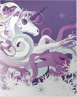 Poster Licorne blanche