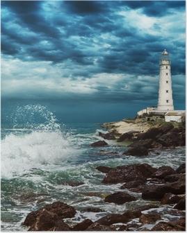 Poster Lighthouse sitter på kanten av Krimhalvön