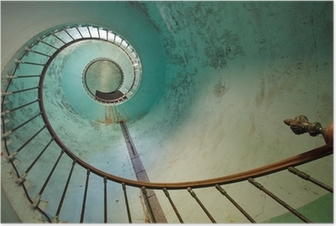 lighthouse staircase Poster
