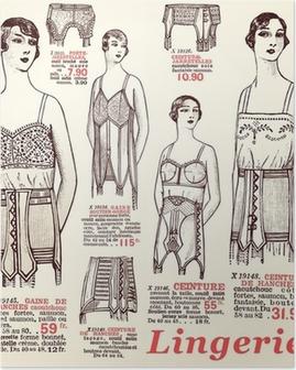 lingerie 1930 Poster