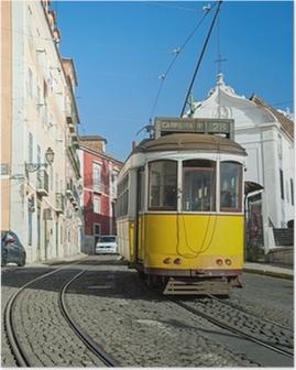 Poster Lissabon Tram Geel - Lijn 28