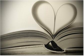 Poster Livre en forme de coeur