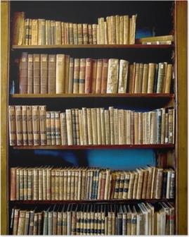 Poster Livres de la Bibliothèque
