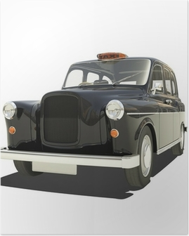 London Cab Isoalted Poster