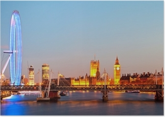 London Eye Panorama Poster
