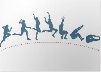 Long jump trajectory Poster