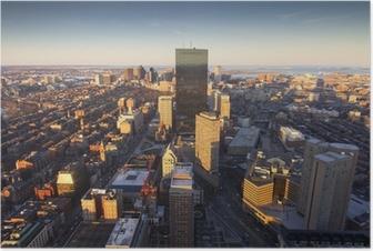 Poster Luchtfoto van Boston
