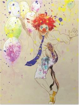 Poster Lycklig clown