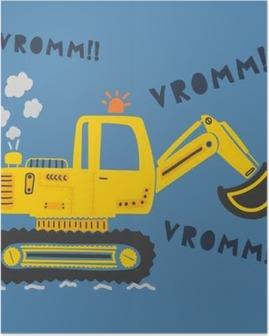 Poster Machine de construction mignon