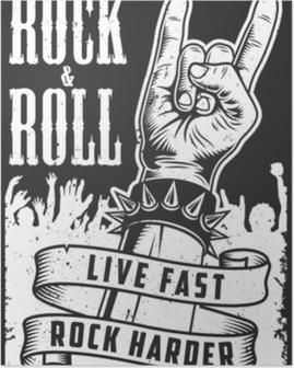 Poster Main dans le signe du rock n roll