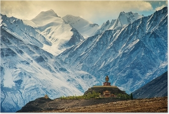 Maitreya at Disket Monastery, Ladakh, India Poster