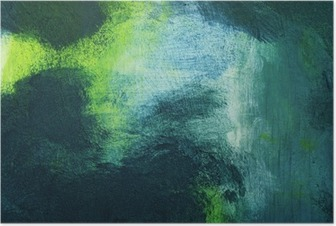 Poster Makro av målningen, färgrik abstrakt