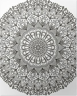 Mandala. Ethnic decorative elements. Poster