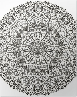 Poster Mandala. Etnische decoratieve elementen.
