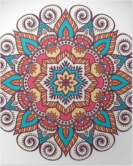 Poster Mandala in etnische stijl