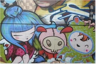 Poster Manga dibujo. graffiti arte urbano
