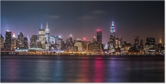 Manhattan Panorama during the Pride Weekend Poster