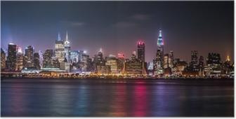 Poster Manhattan Panorama pendant la fin de semaine de fierté