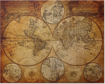 Póster Mapa antiguo (1746)