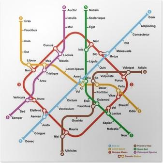 Pster mapa del metro de ficcin en forma de infinito ilustracin pster mapa del metro de ficcin vector ilustracin gumiabroncs Choice Image