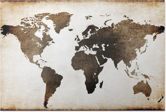 Póster Mapa mundi antiguo