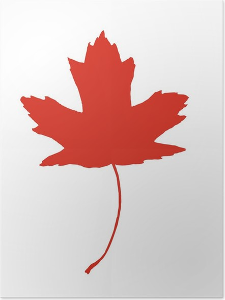 Maple Leaf Canadian Symbol Poster Pixers We Live To Change