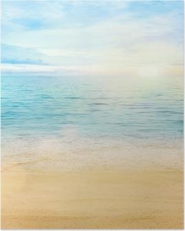 Póster Mar y arena de fondo