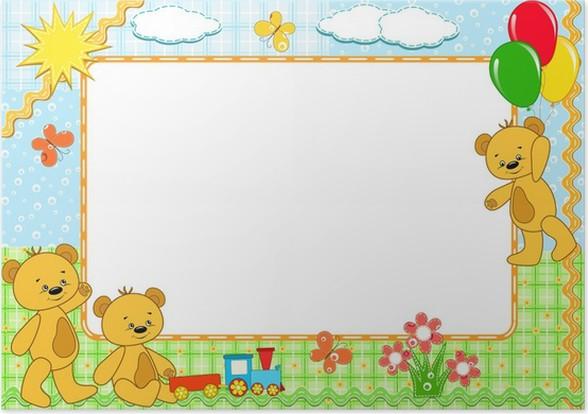 P ster marco para ni os osos hecho a mano pixers - Marcos para posters ...