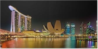 Marina Bay Singapore panorama Poster