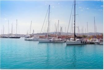 Marina port in Palma de Mallorca at Balearic Islands Poster