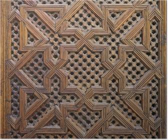 Poster Marockanska Cedar Wood Arabesque Carving