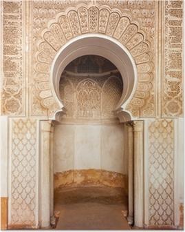 Poster Marrakech madrasah ornament