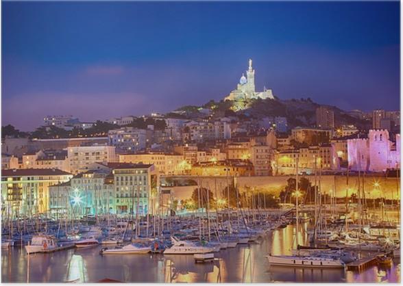 Marseille france vieux port notre dame de la garde poster pixers we live to change - Pharmacie de garde marseille vieux port ...