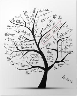 Poster Math träd för din design