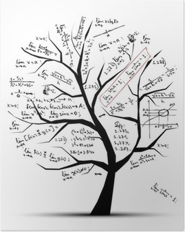 Math tree for your design Poster