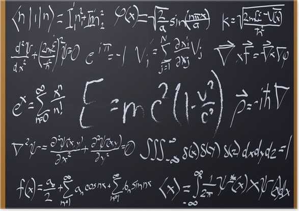 mathematical chalkboard designs poster