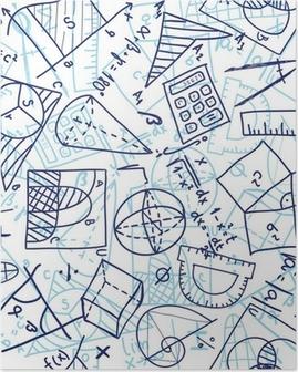 Mathematics seamless pattern Poster