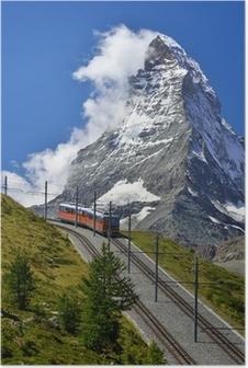 Poster Matterhorn trein van Zermatt naar Gornergrat. Zwitserland