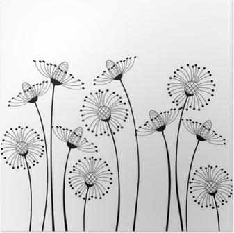 Poster Meadow & fleurs