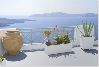 Mediterranean terrace Poster